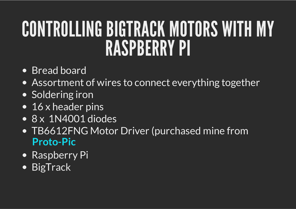 CONTROLLING BIGTRACK MOTORS WITH MY RASPBERRY P...