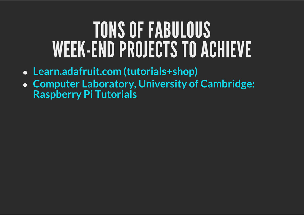 TONS OF FABULOUS WEEK-END PROJECTS TO ACHIEVE L...