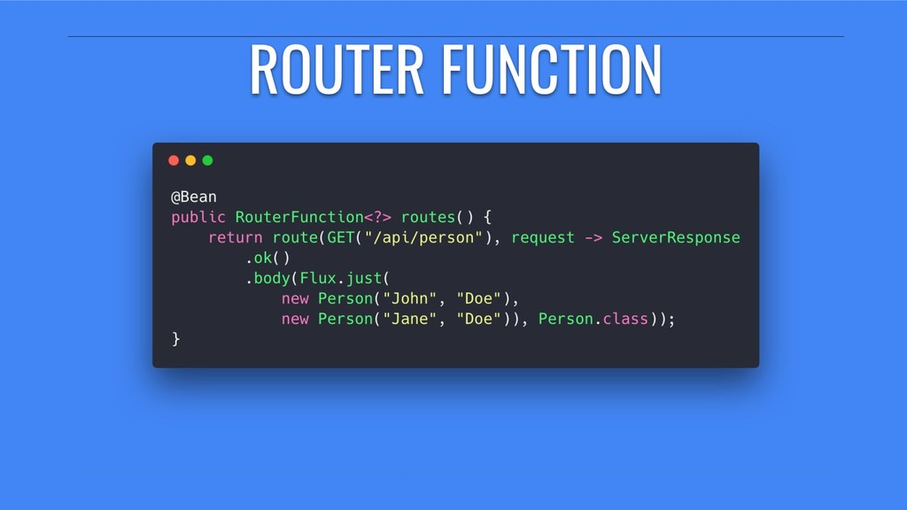 ROUTER FUNCTION