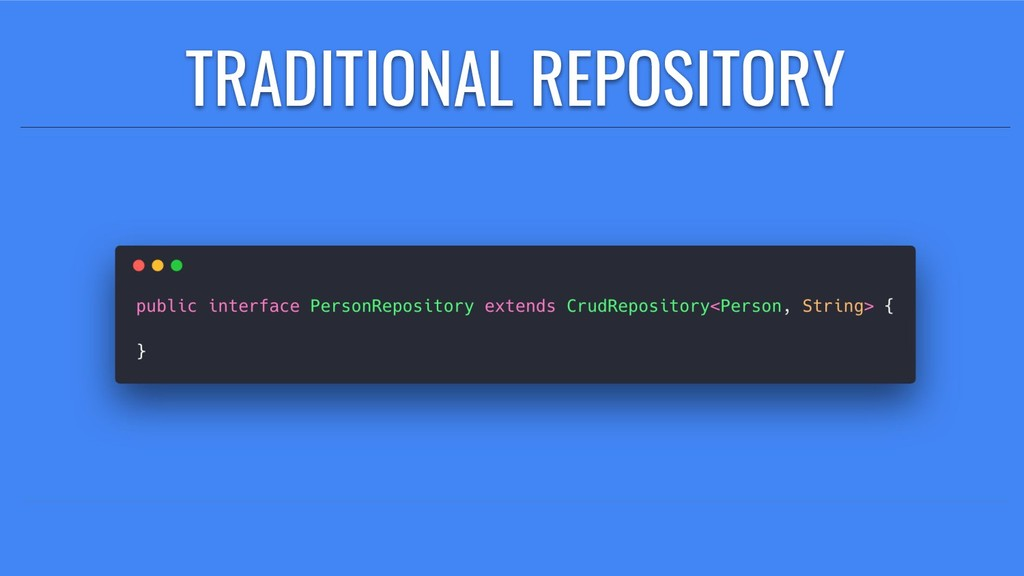 TRADITIONAL REPOSITORY