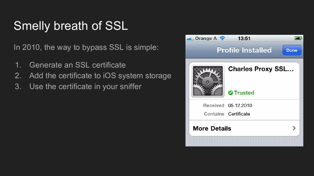 Smelly breath of SSL In 2010, the way to bypass...