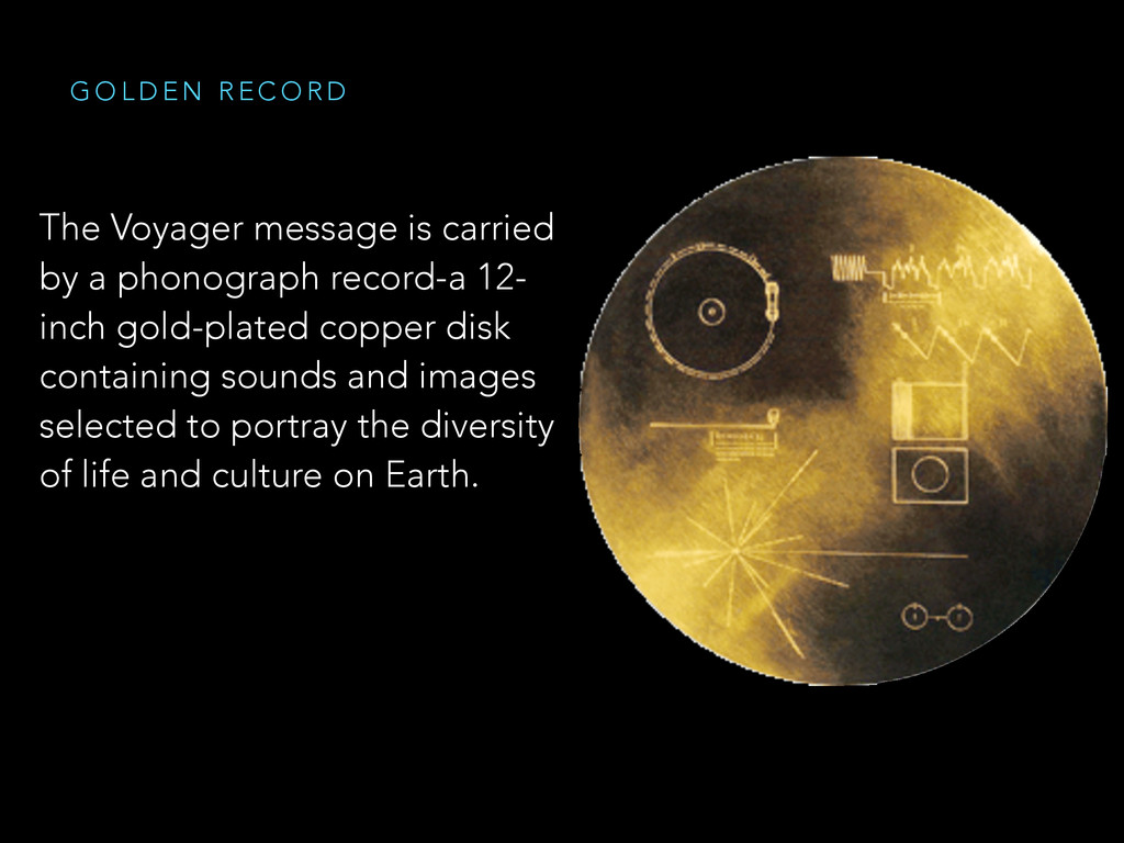The Voyager message is carried by a phonograph ...
