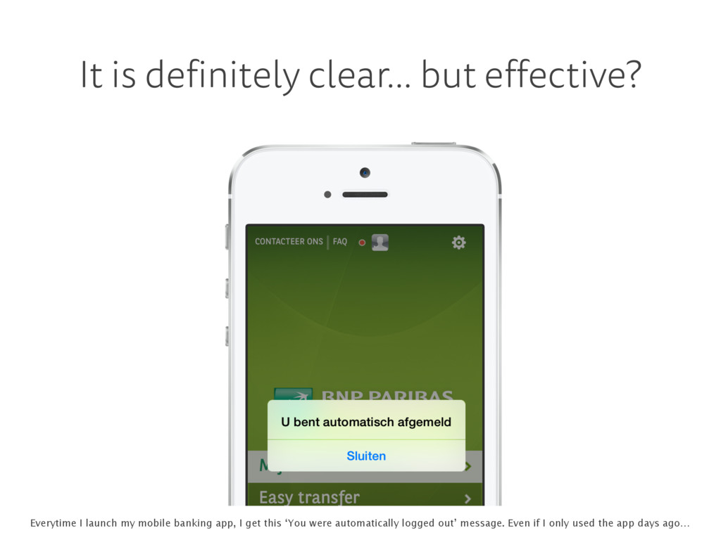 It is definitely clear… but effective? Everytim...