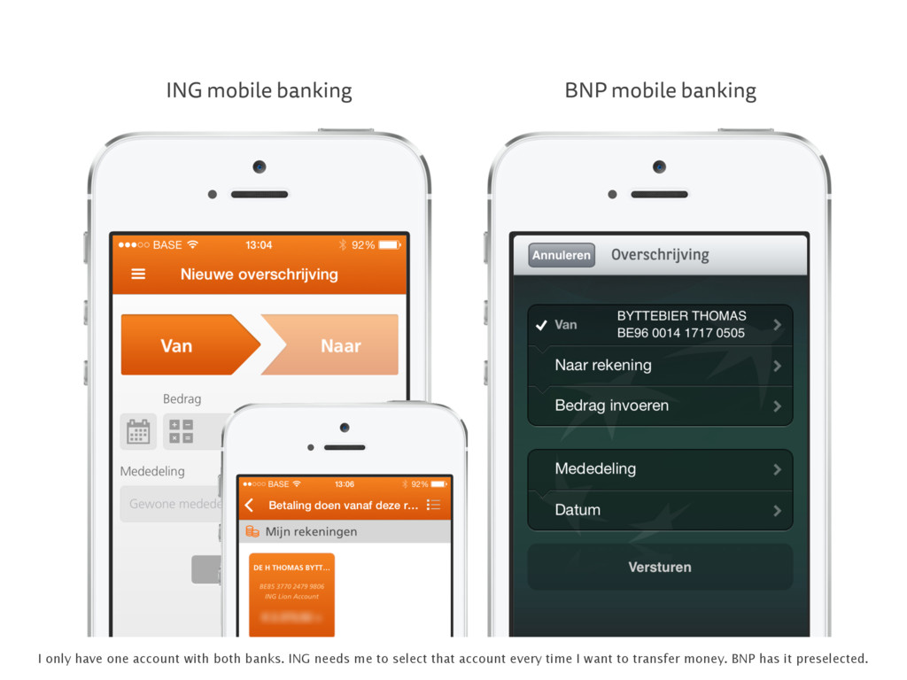 ING mobile banking BNP mobile banking I only ha...