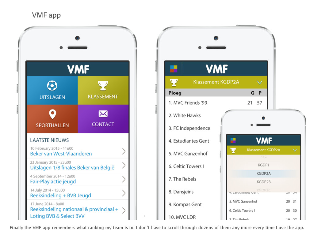 . VMF app Finally the VMF app remembers what ra...