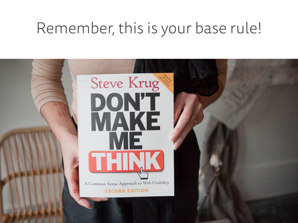 Remember, this is your base rule!
