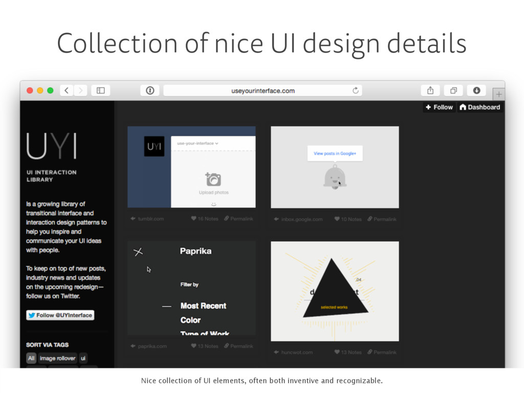 Collection of nice UI design details . Nice col...