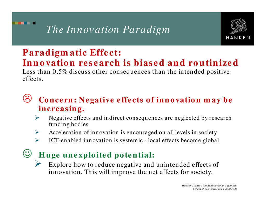 The Innovation Paradigm Paradigmatic Effect: In...
