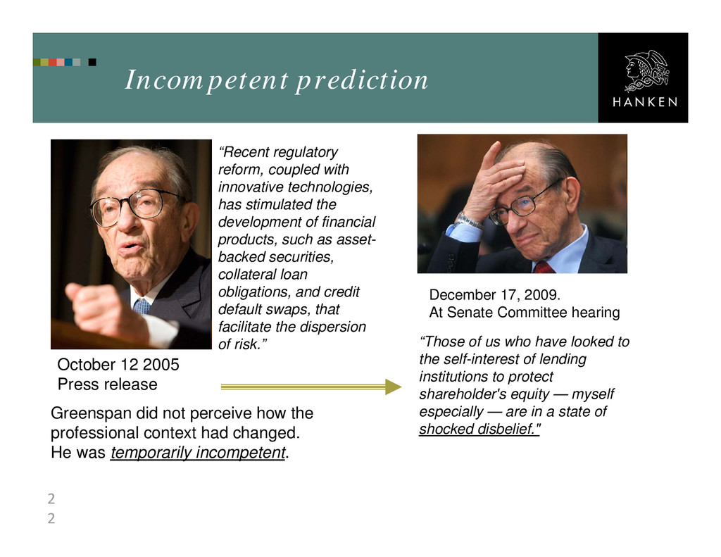 2 2 Incompetent prediction December 17, 2009. A...