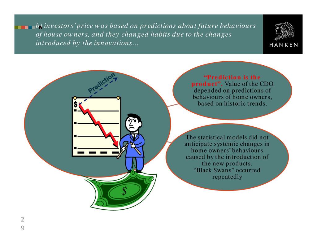2 9 b) investors' price was based on prediction...