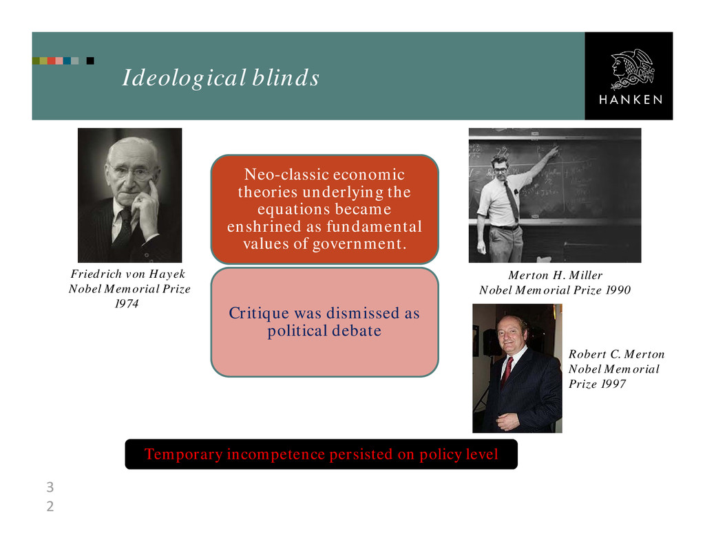 3 2 Ideological blinds Neo-classic economic the...