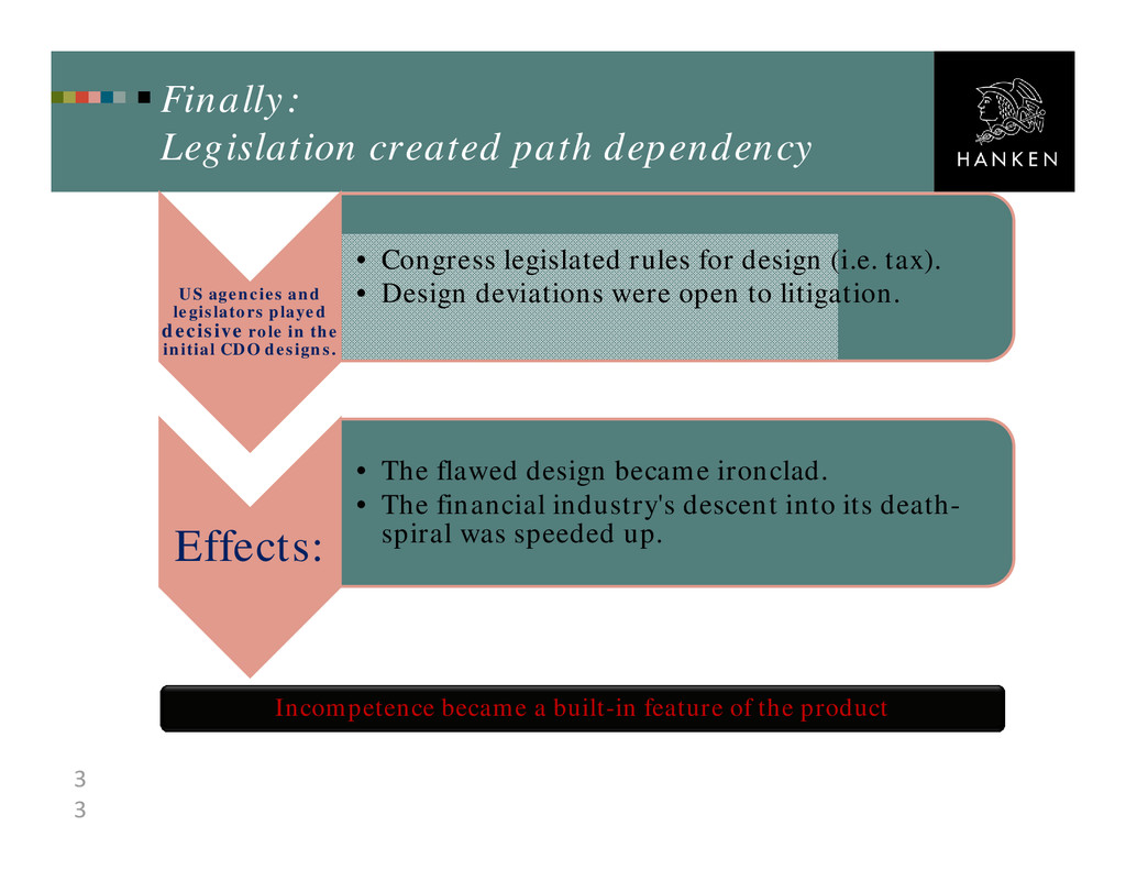 3 3 Finally: Legislation created path dependenc...