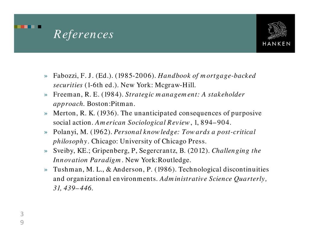 3 9 References » Fabozzi, F. J. (Ed.). (1985-20...