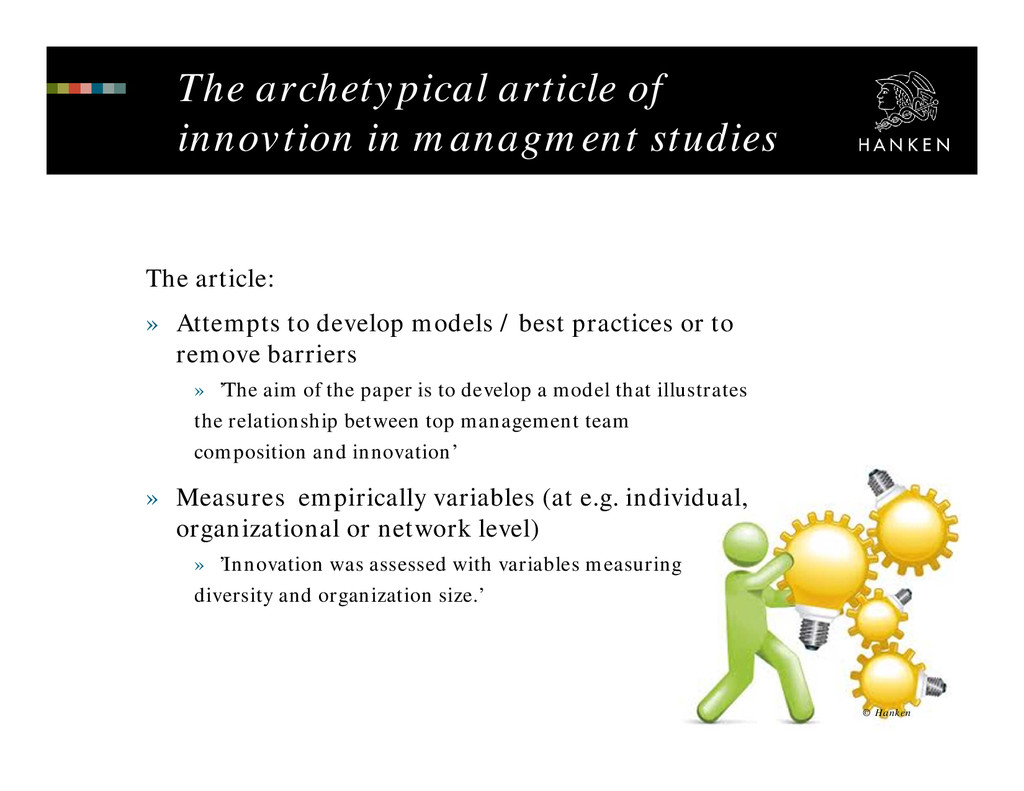 The archetypical article of innovtion in managm...