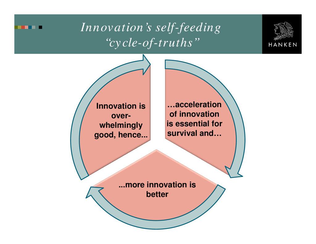 "Innovation's self-feeding ""cycle-of-truths"" …ac..."