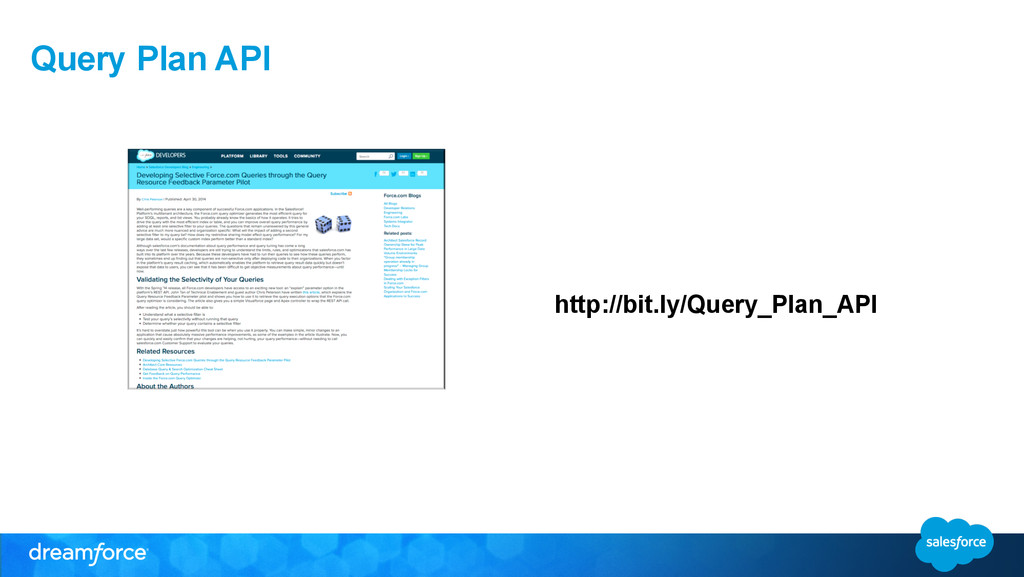 Query Plan API http://bit.ly/Query_Plan_API
