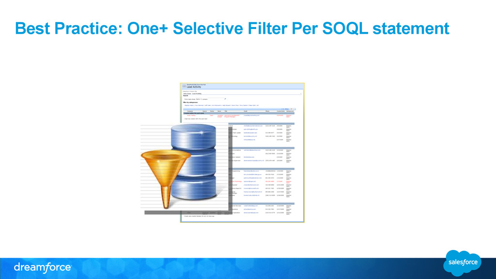 Best Practice: One+ Selective Filter Per SOQL s...