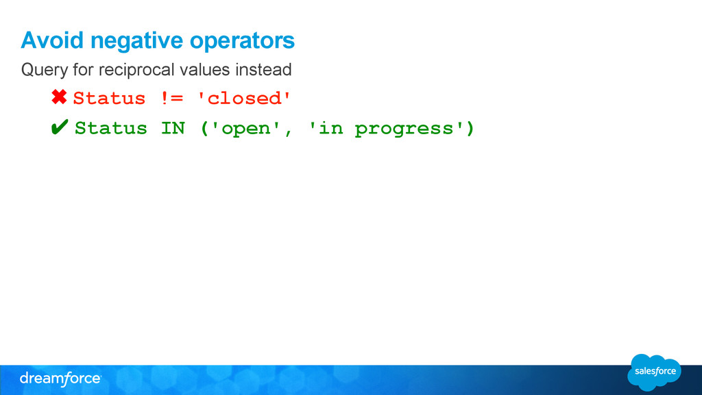 Avoid negative operators Query for reciprocal v...