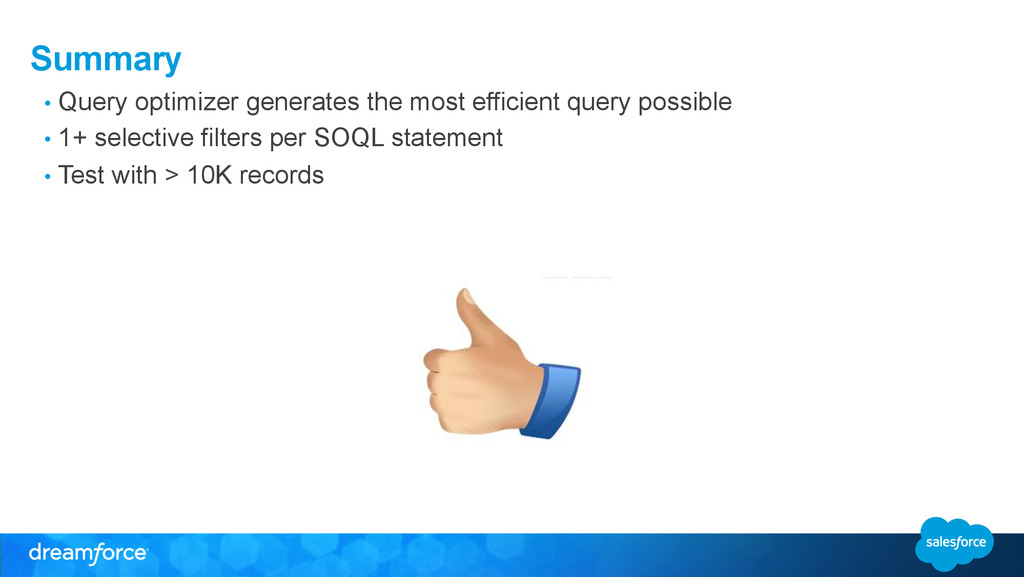 Summary • Query optimizer generates the most e...