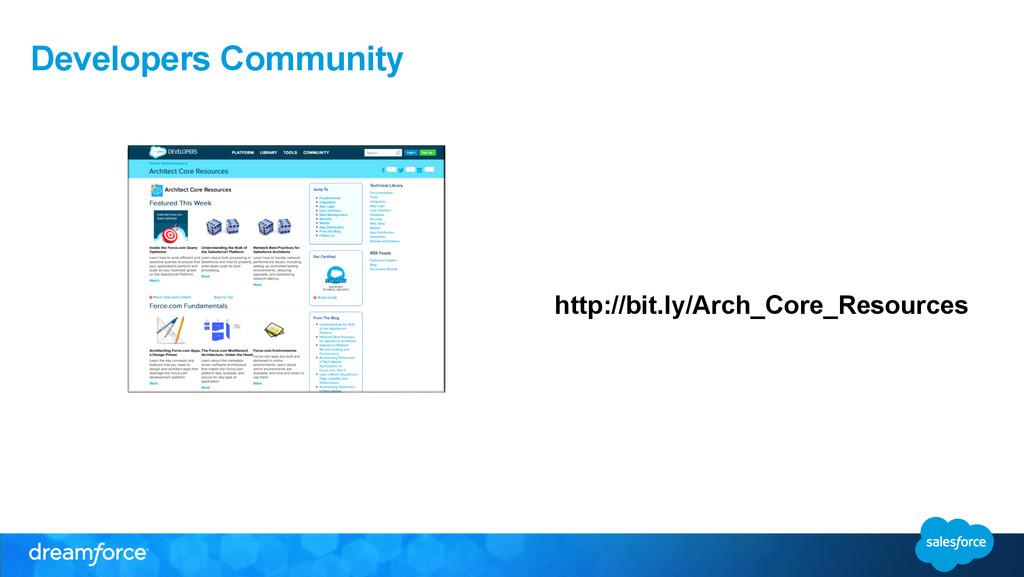 Developers Community http://bit.ly/Arch_Core_Re...