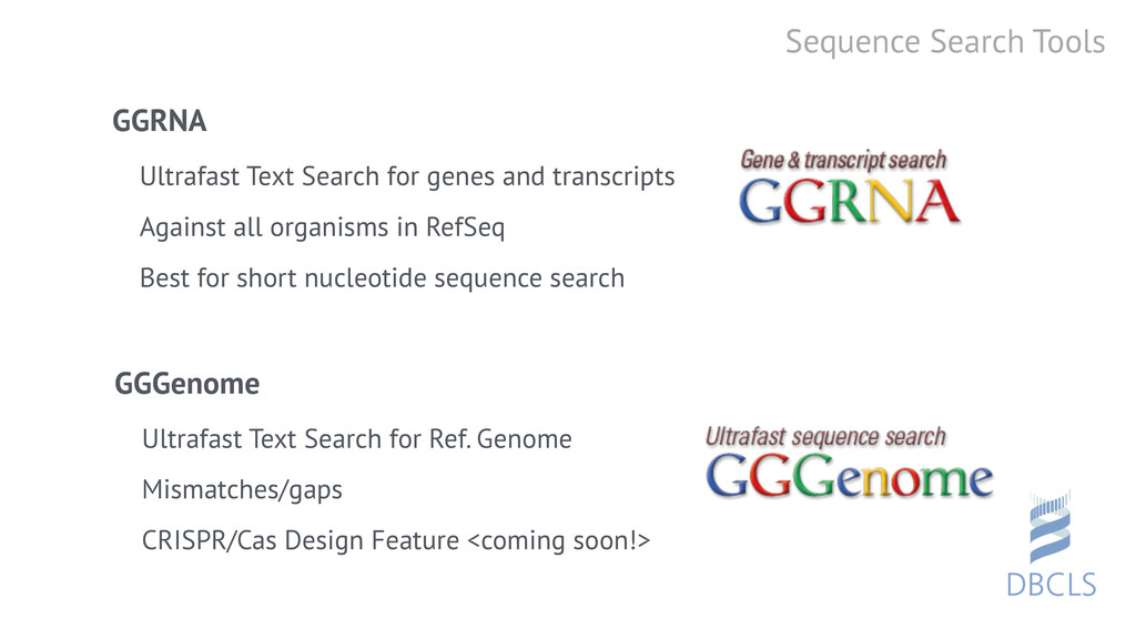 Sequence Search Tools GGRNA Ultrafast Text Sear...