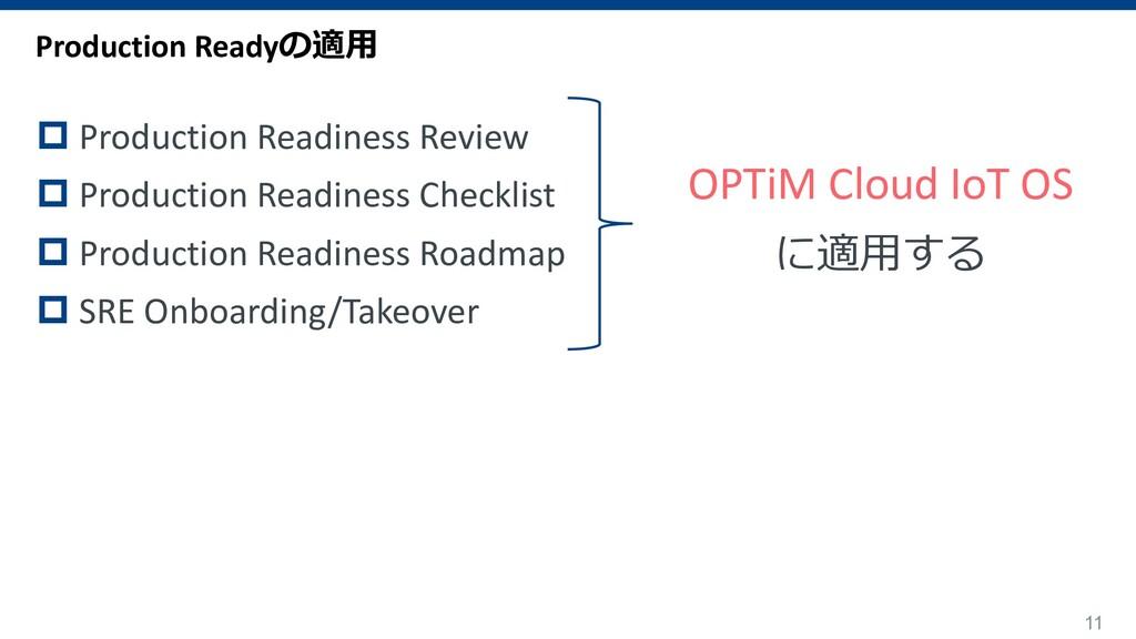 11 OPTiM Cloud IoT OS に適⽤する Production Readyの適⽤...
