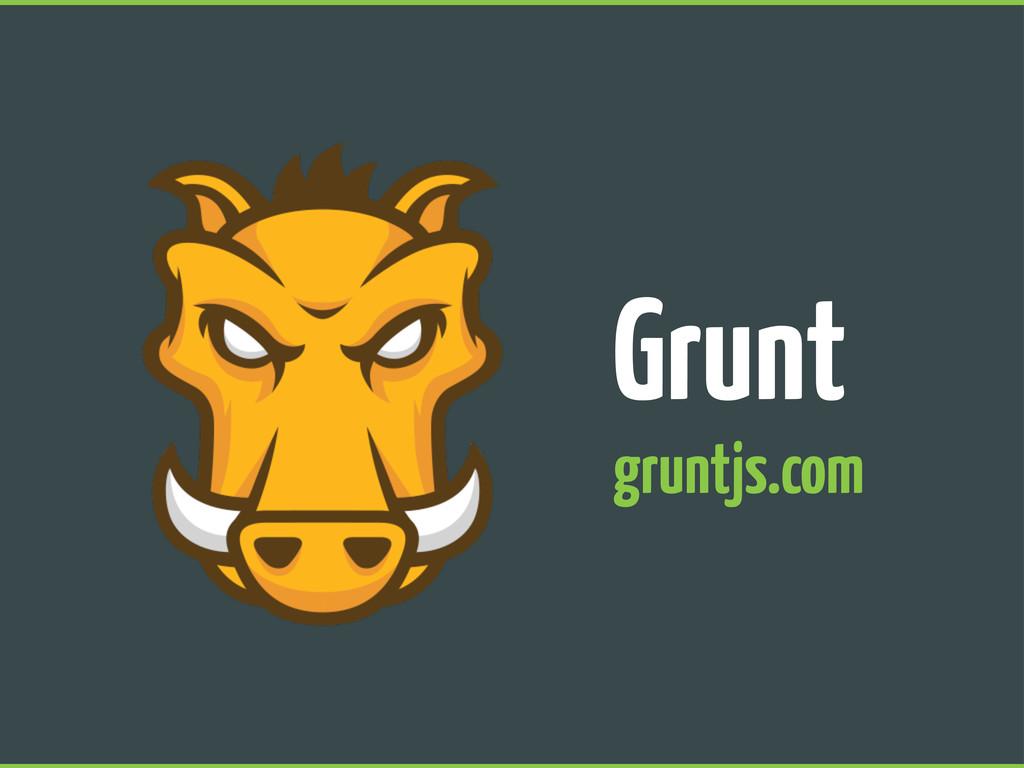 Grunt gruntjs.com