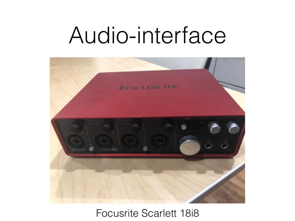 Audio-interface Focusrite Scarlett 18i8