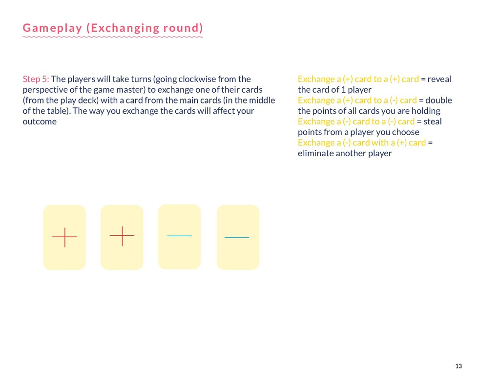 13 Step 5: The players will take turns (going c...