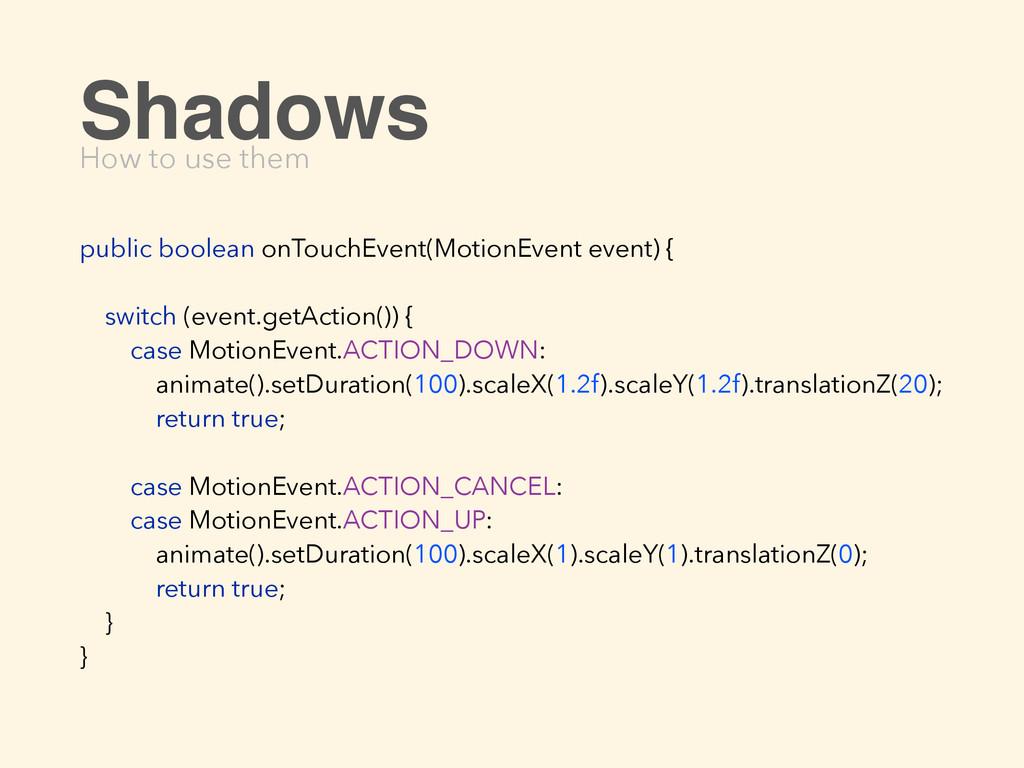 public boolean onTouchEvent(MotionEvent event) ...