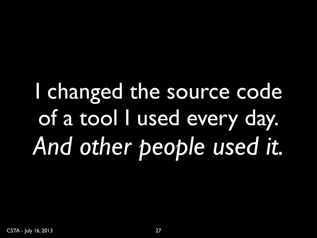 CSTA - July 16, 2013 I changed the source code ...
