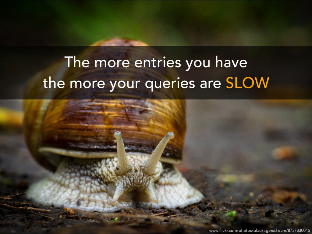The more entries you have the more your queries...