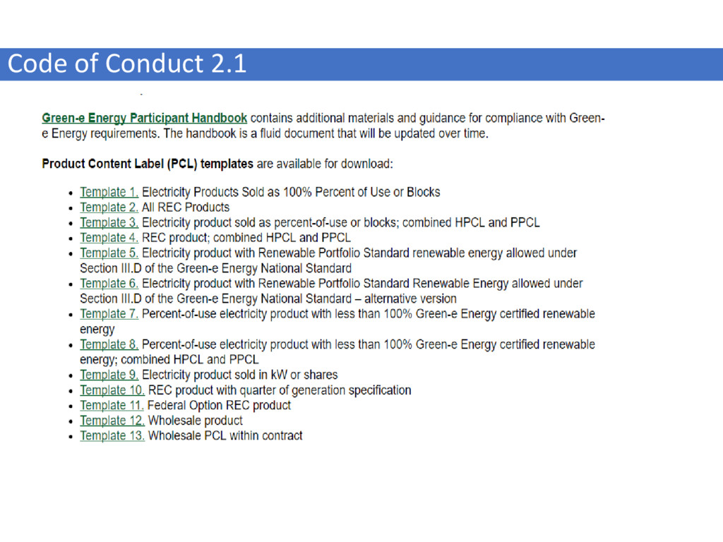 Code of Conduct 2.1