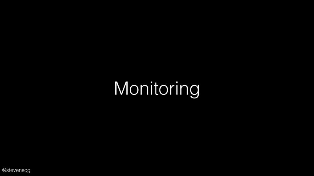@stevenscg Monitoring