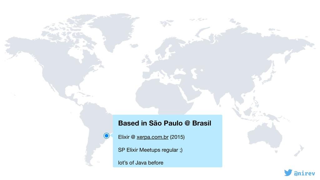 @nirev Based in São Paulo @ Brasil  Elixir @ ...