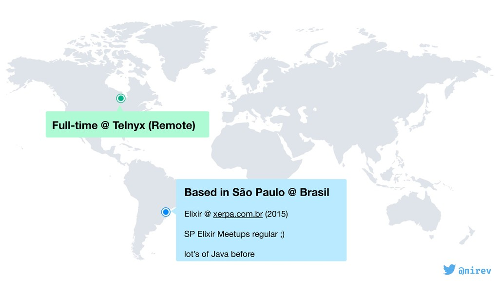 @nirev Full-time @ Telnyx (Remote) Based in Sã...