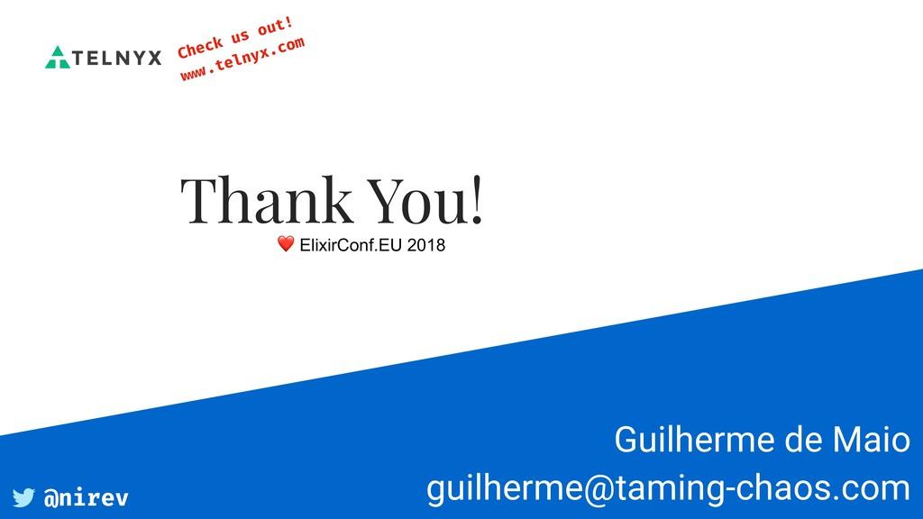 Guilherme de Maio guilherme@taming-chaos.com T...