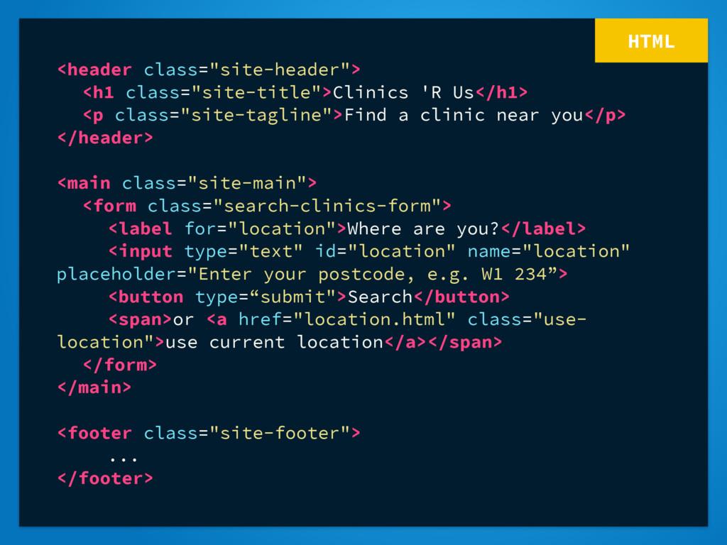"""HTML <header class=""""site-header""""> <h1 class=""""si..."""