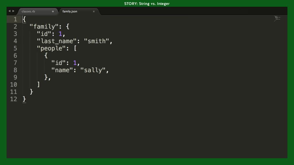 STORY: String vs. Integer