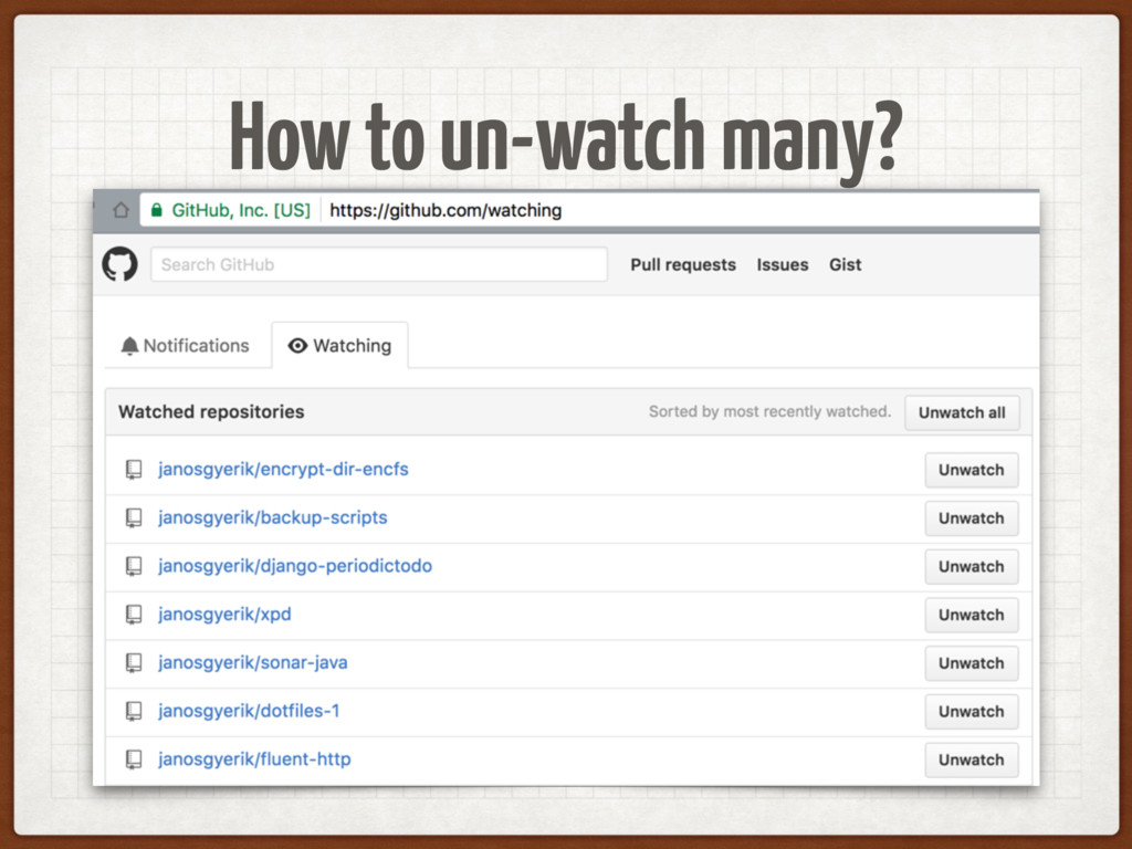 How to un-watch many?