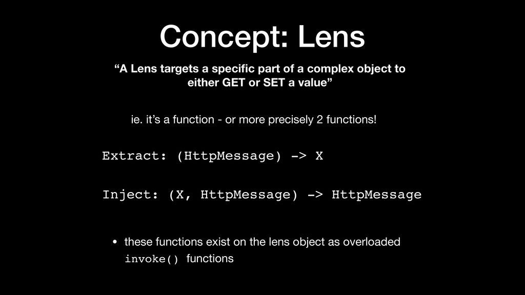"Concept: Lens ""A Lens targets a specific part of..."