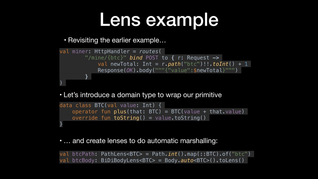 Lens example • Revisiting the earlier example… ...