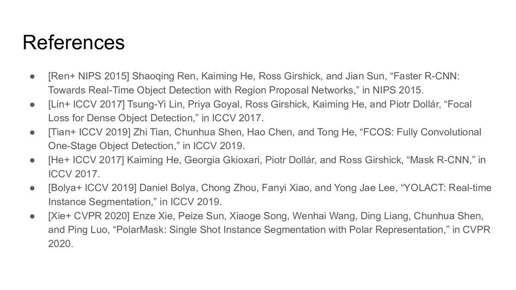 ● [Ren+ NIPS 2015] Shaoqing Ren, Kaiming He, Ro...