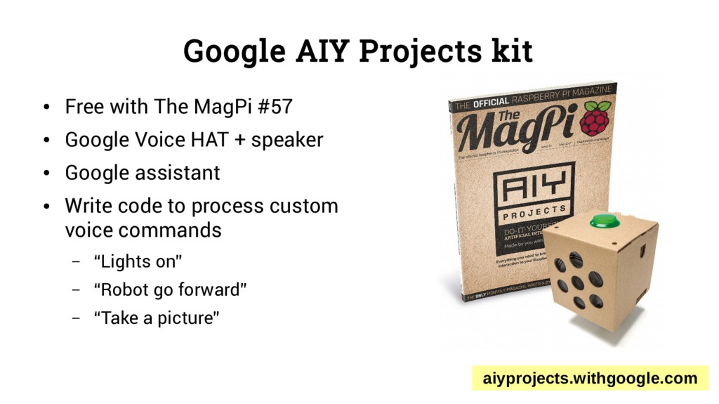 Google AIY Projects kit ● Free with The MagPi #...