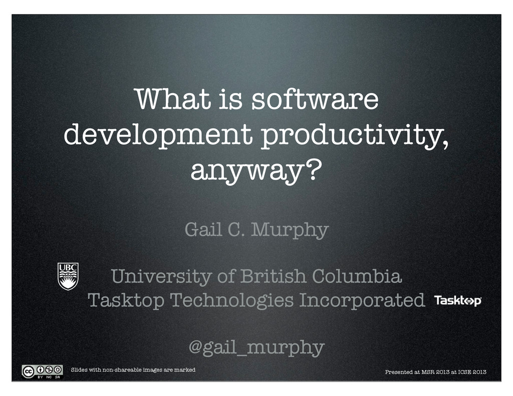 What is software development productivity, anyw...