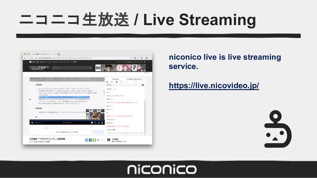 ニコニコ生放送 / Live Streaming niconico live is live ...