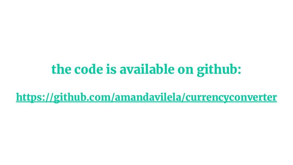 the code is available on github: https://github...
