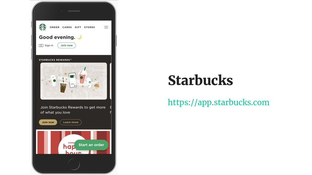 Starbucks https://app.starbucks.com