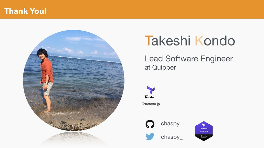 Thank You! chaspy chaspy_ Lead Software Enginee...