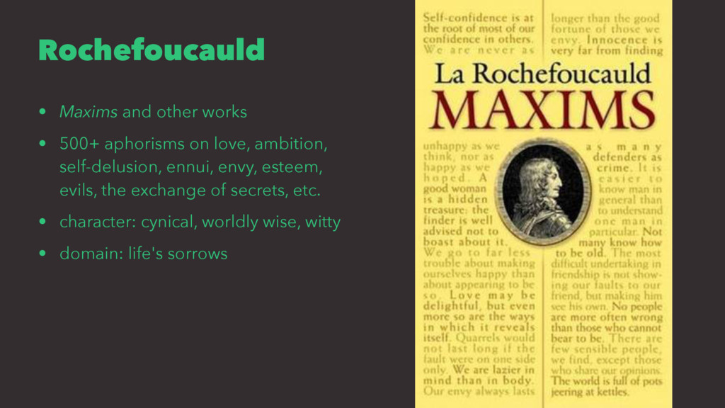 Rochefoucauld • Maxims and other works • 500+ a...